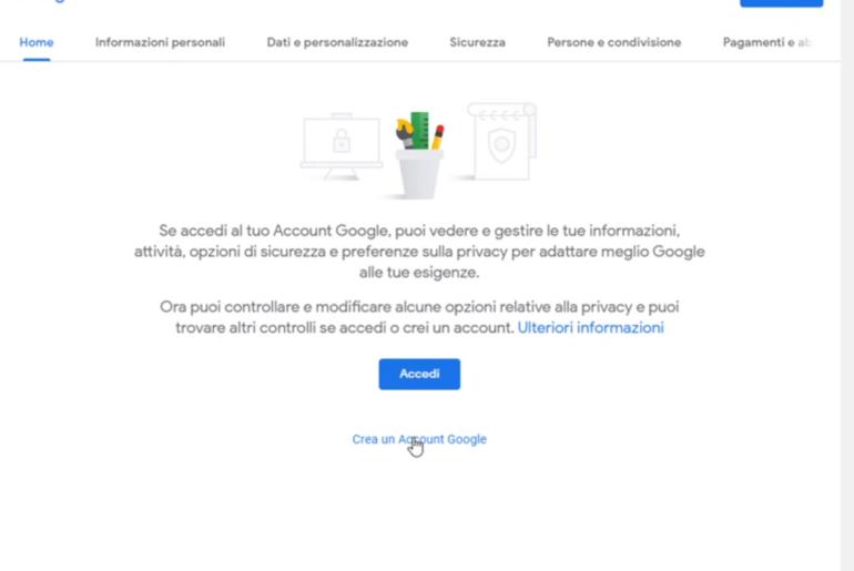 Come si crea un account Google e a cosa serve