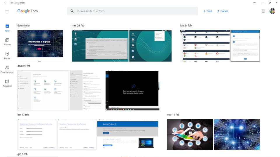 Programma Google per conservare e modificare le foto