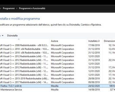 Come disinstallare un programma su Windows