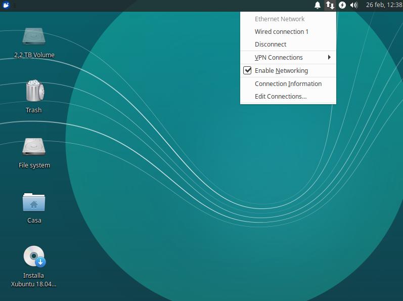 Dall'altro dispositivo attiviamo il WiFi (su Ubuntu in altro a destra, su Windows in basso a destra), cerchiamo il nostro telefono (in questo caso Redmi) e inseriamo la password mostrata prima.