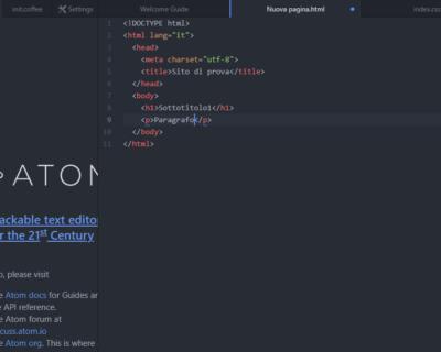 Imparare l'HTML
