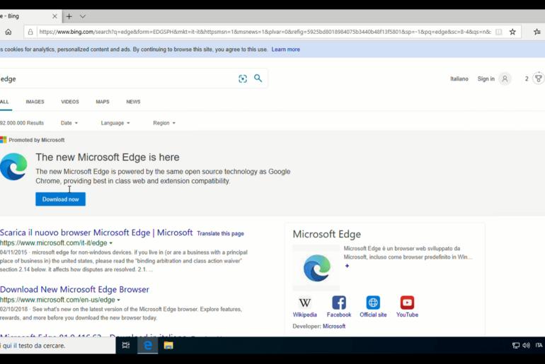 Come scaricare e installare il nuovo browser Edge della Microsoft