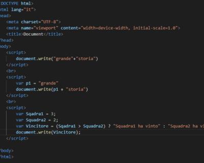 Gli operatori in JavaScript