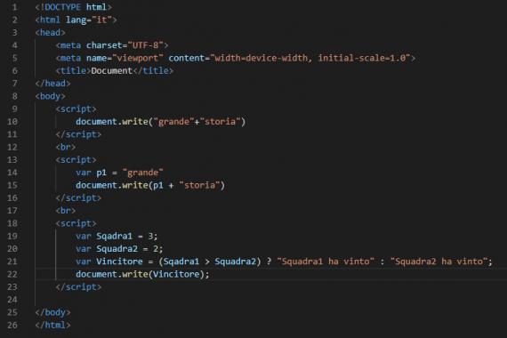 Cosa sono gli operatori in JavaScript