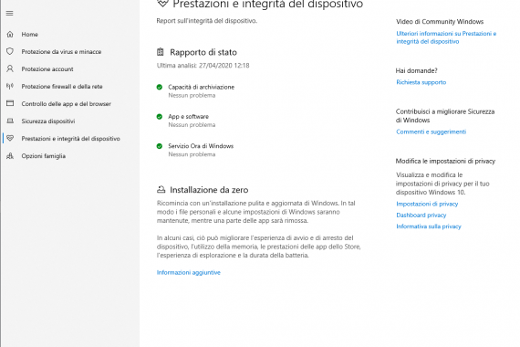 Come fare una installazione pulita Windows 10