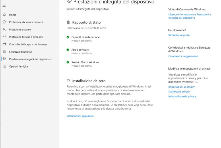 Come fare una installazione pulita Windows 10