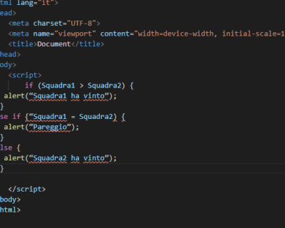 Condizioni if in JavaScript