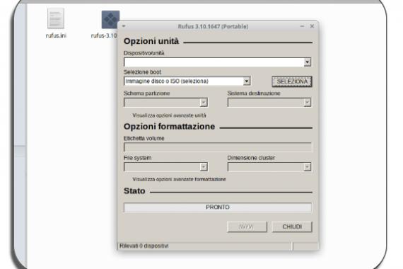Scaricare e usare Rufus per Ubuntu