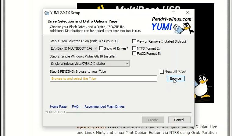 Yumi ci permette di creare una chiavetta multiboot per conservare più sistemi operativi.