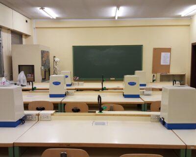 L'ambiente e le attrezzature in un laboratorio di chimica