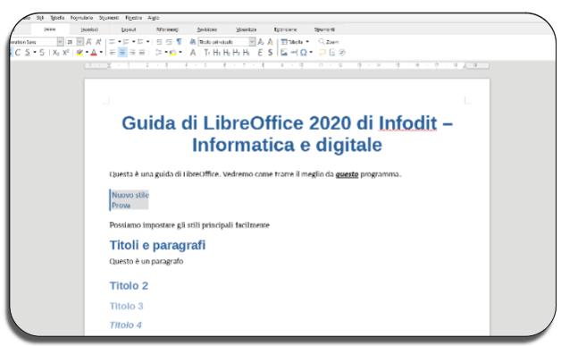 Titoli e paragrafi | Guida LibreOffice