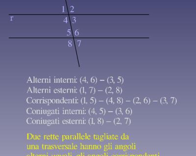 Criterio di parallelismo e applicazione sui triangoli.