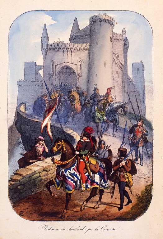 Lombardi partono per la prima delle 8 crociate