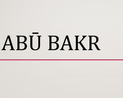Califfo Abu Bakr