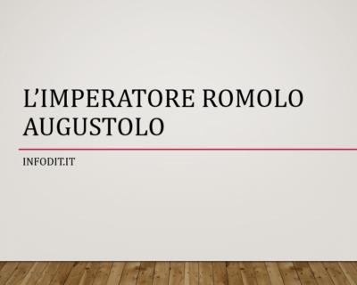 Romolo Augustolo, imperatore romano d'Occidente