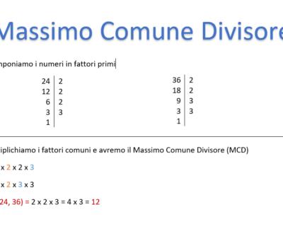 Il Massimo Comune Divisore (MCD): cos'è e come si calcola