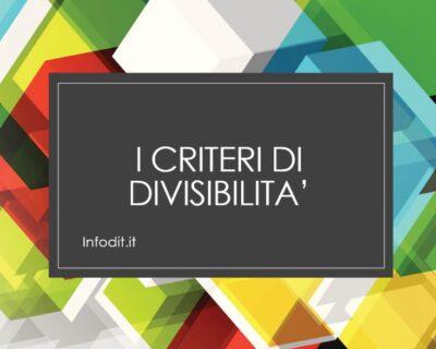 I Criteri di divisibilità