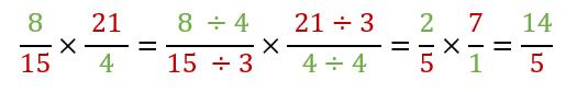 Semplificazione frazioni moltiplicazione