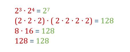 Prodotto (moltiplicazione) di potenze con la stessa base
