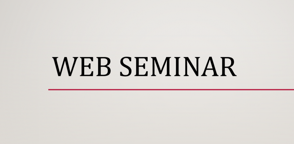 Web seminar. webinar