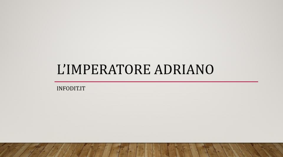 Adriano imperatore romano