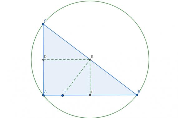Circocentro di un triangolo rettangolo