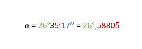 Conversione misura sessagesimale in decimale