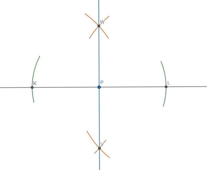 perpendicolare a una retta passante per un suo punto