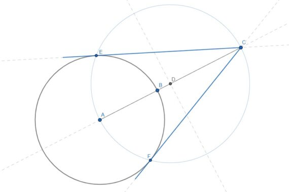 Tangenti alla circonferenza da un punto esterno