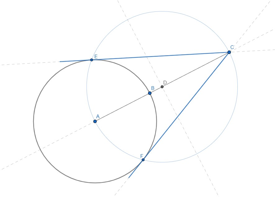 tangenti circonferenza da punto esterno