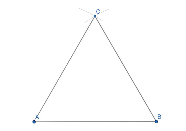 Triangolo equilatero dato il lato