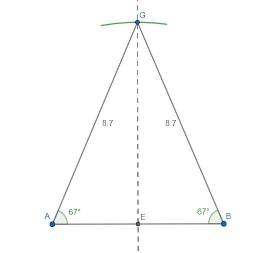Costruire e disegnare un triangolo isoscele