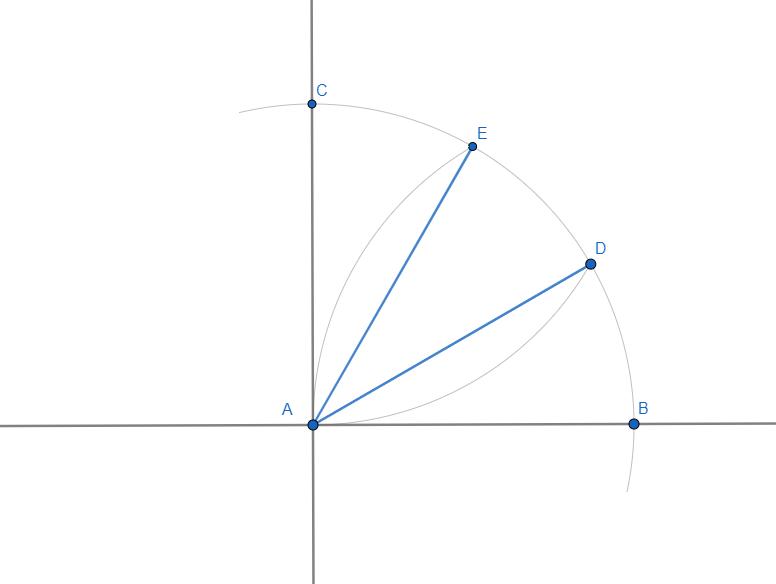 Dividere un angolo retto in tre parti uguali