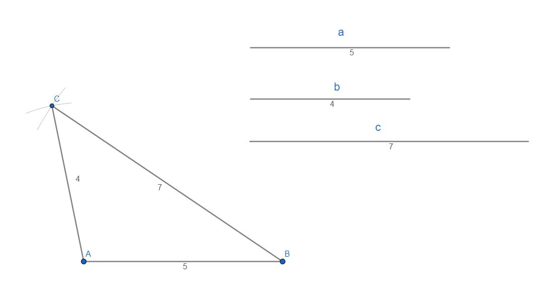 Costruzione di un triangolo scaleno