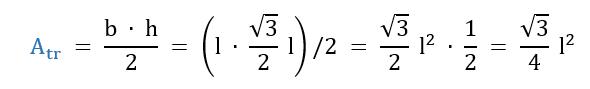 Come si ricava la formula dell'area di un triangolo equilatero.