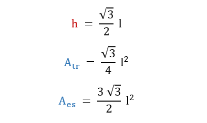 Formule dell'esagono inscritto in una circonferenza.