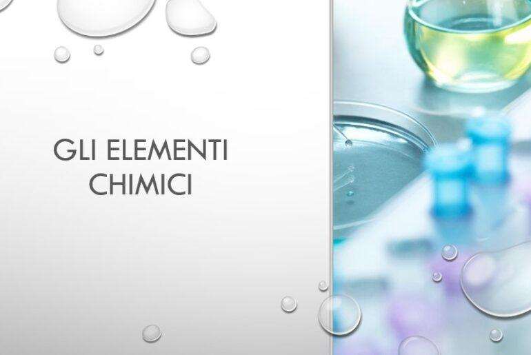 Cosa sono gli elementi chimici