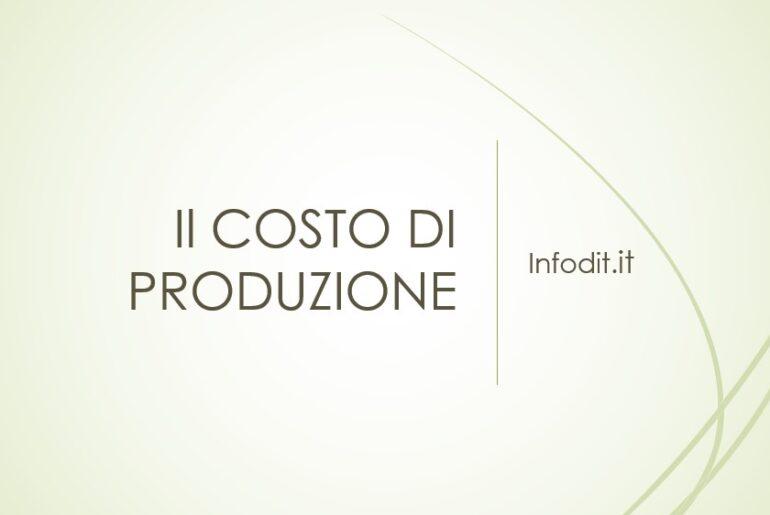 Il costo di produzione
