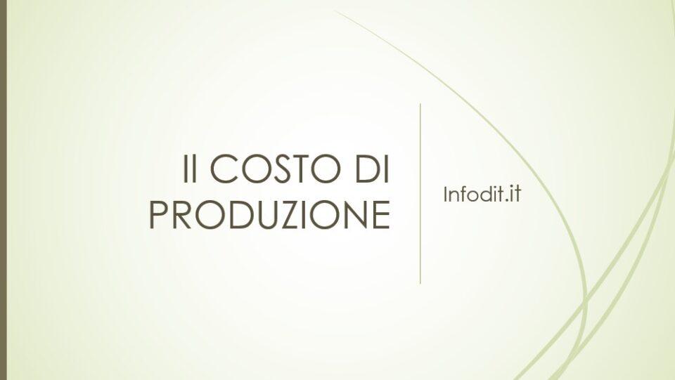 costo di produzione
