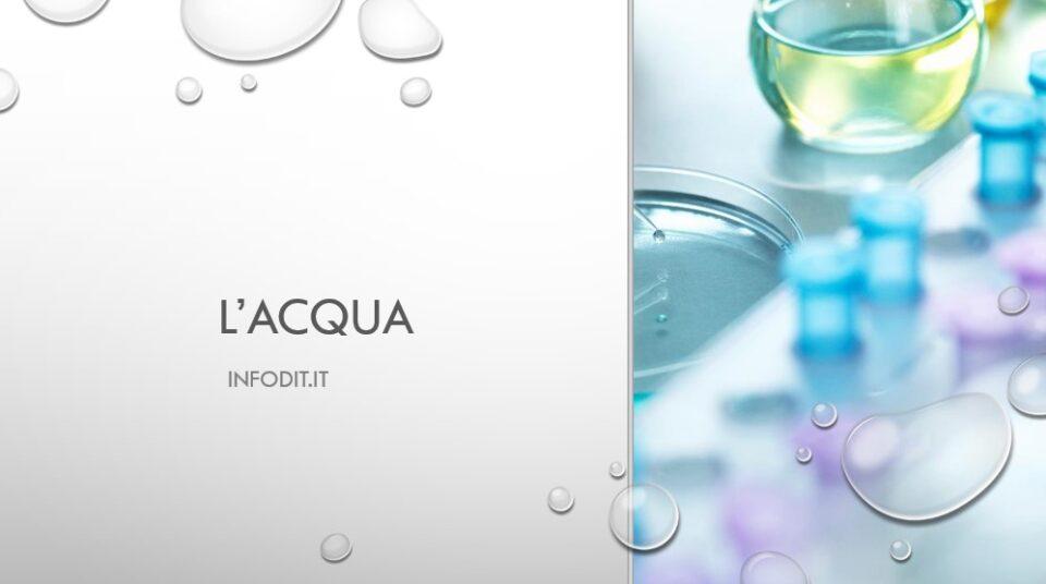 acqua, chimica, caratteristiche, proprietà