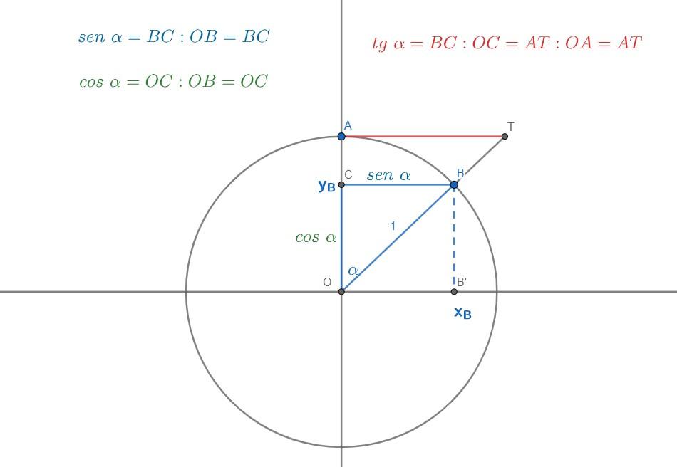 Cerchio goniometrico e tangente.