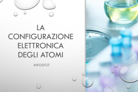 La configurazione elettronica di un atomo
