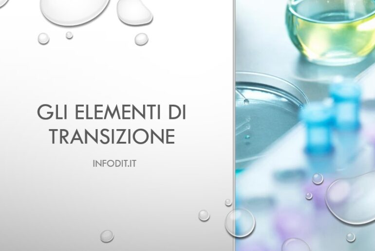 Gli elementi di transizione