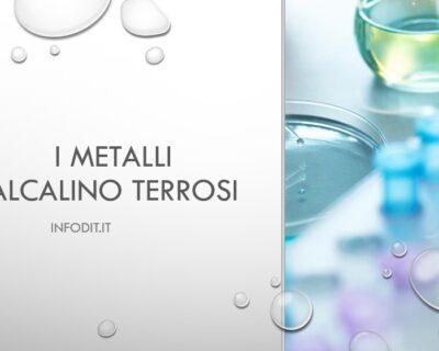 I metalli alcalino terrosi