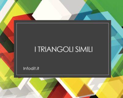 I triangoli simili