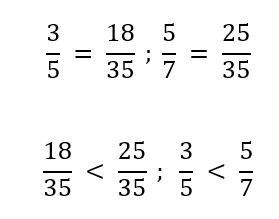 confronto frazioni con minimo comune multiplo (m.c.m.)