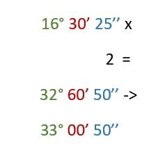 Moltiplicazione angolo sistema sessagesimale
