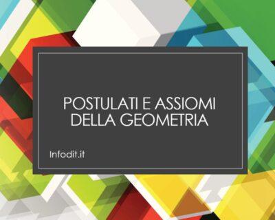 Postulati e assiomi della geometria