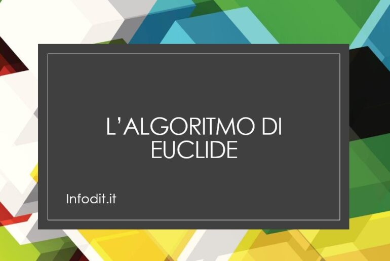 L'algoritmo di Euclide