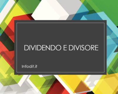 Dividendo e divisore: i termini della divisione